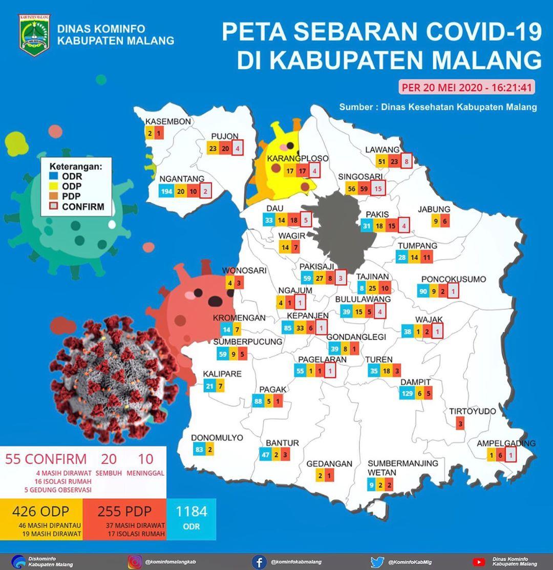 Peta Covid-19 per 20 Mei 2020