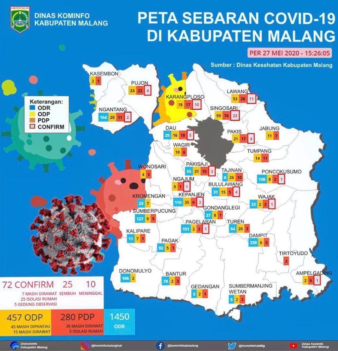 Peta Covid-19 per 27 Mei 2020